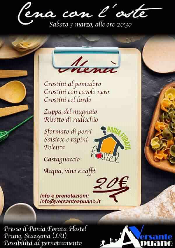 A cena con Versante Apuano